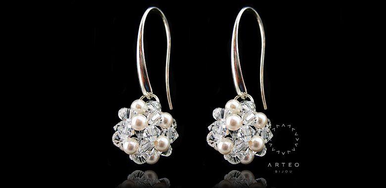 Kolczyki Srebrn Slubne Swarovski Perlowe Kule 1816 6578182254 Oficjalne Archiwum Allegro Earrings Diamond Earrings Jewelry