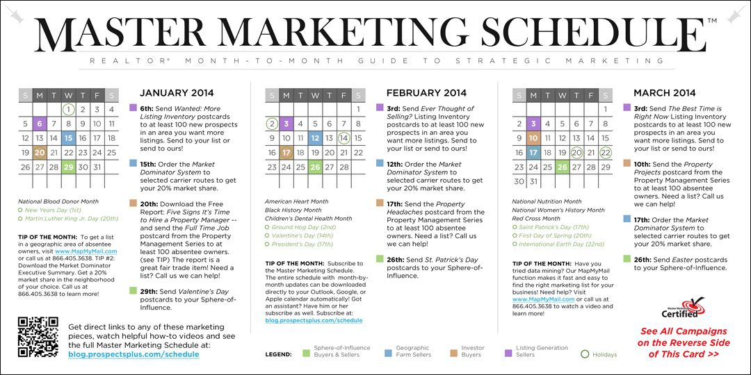 Real Estate Master Marketing Schedule Your Month-to-Month Guide for - sample marketing schedule