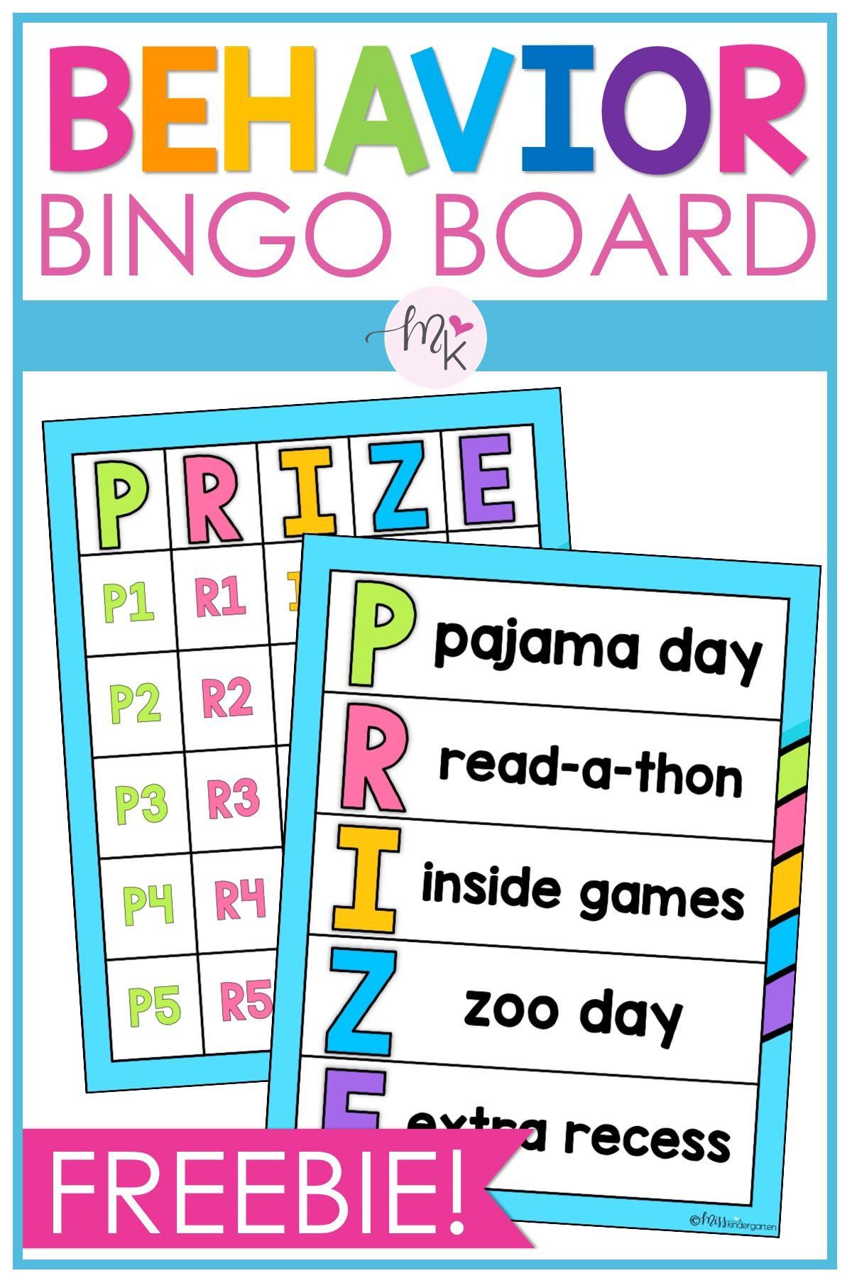Free Behavior Bingo Board In