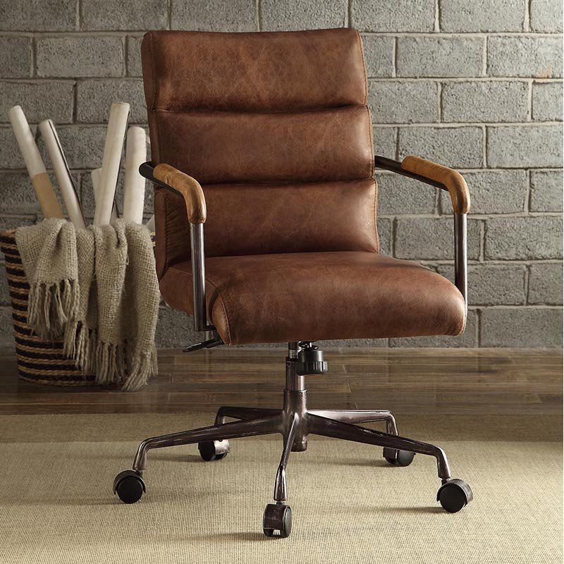 Acme Furniture Harith Top Grain Leather Task Chair | From Hayneedle.com