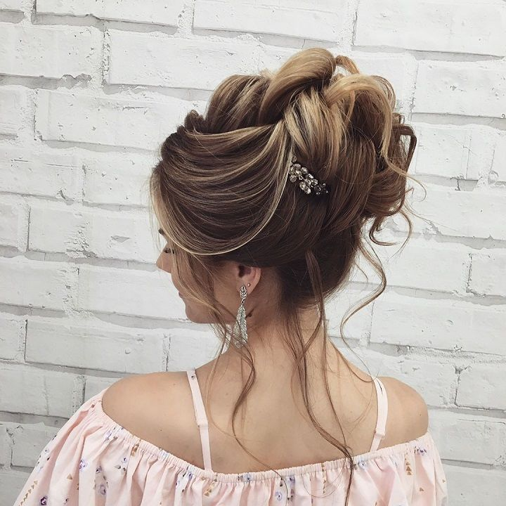 Updo wedding hairstyle inspiration | textured updo bridal hairstyle ideas #weddinghair #updo #chignon #messyupdo #messybridalupdo #hairstyleideas #weddinghairinspiration #updohairstyle #upstyle #bridalhair