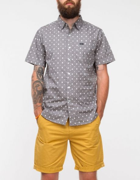 Short sleeve cotton button up from RVCA