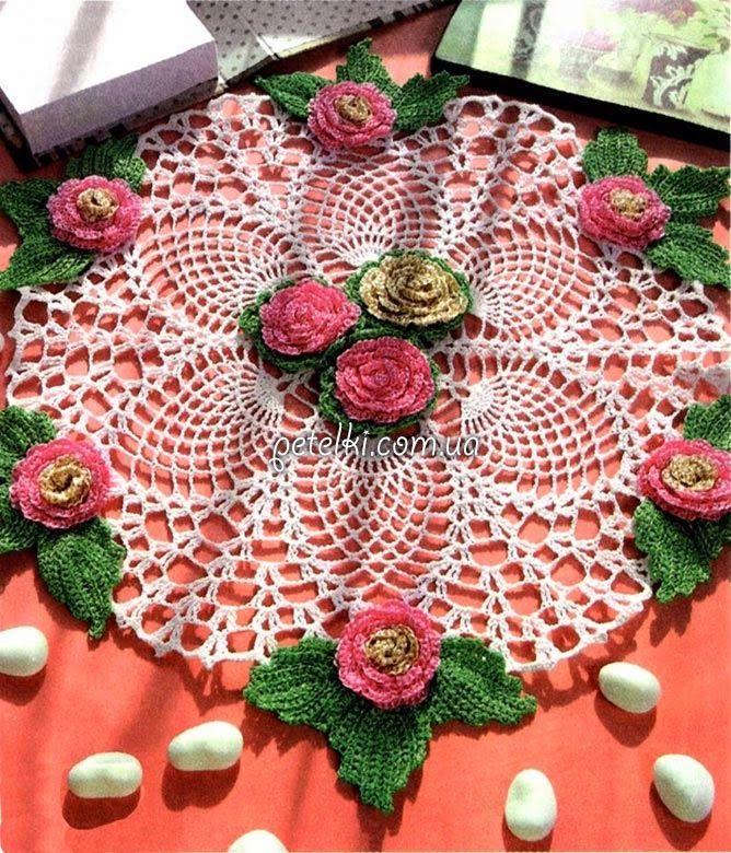 Patrones para tejer ganchillo carpeta doily pattern | prendas en ...