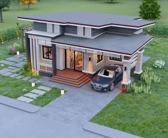 7 Desain Rumah Dengan Garasi Mobil Di Samping Rumah Di 2020 Desain Rumah Rumah Desain