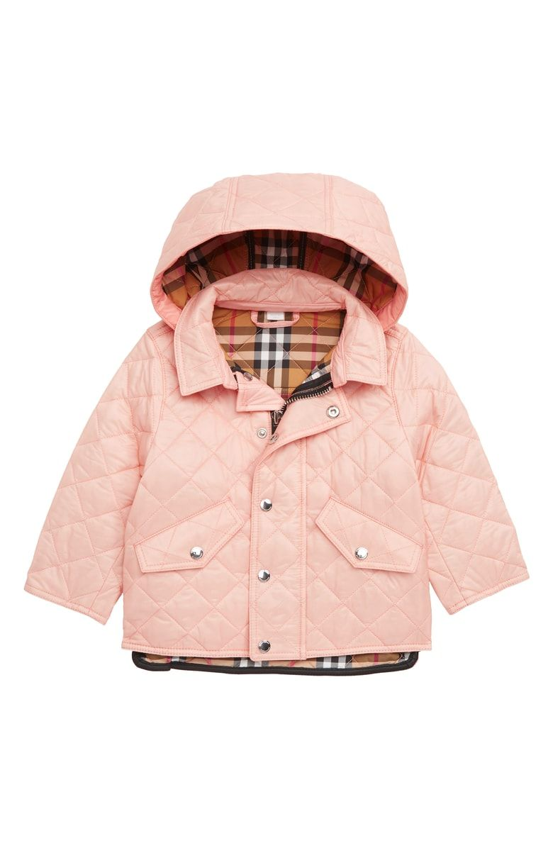 a15a8aadabd Free shipping and returns on Burberry Ilana Quilted Water Repellent Jacket (Baby  Girls) at