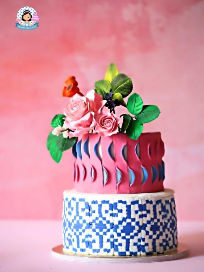 Sugar Flowers & Cakes in Bloom Collaboration - Ekkat Rose Cake - cake by Sumerucreations