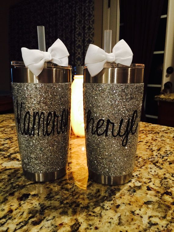 Silver Glitter Tumbler Available In All Sizes 10 Oz
