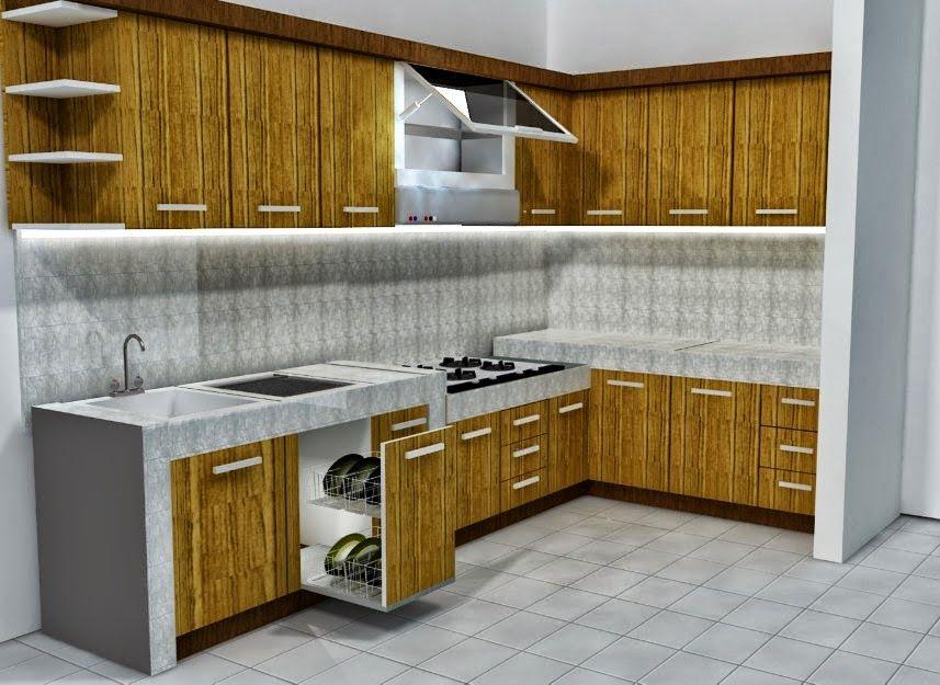 Desain dapur minimalis konsep modern view rumah for Kitchen set dapur minimalis