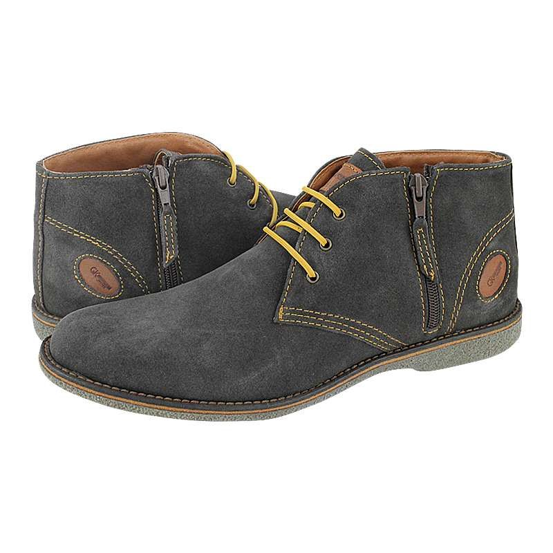 Leva - GK Uomo Comfort Men's low boots made of suede with leather lining and synthetic outsole.