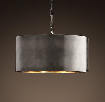 This Antique Metal Drum Pendant Light Would Look Perfect Above My Table.