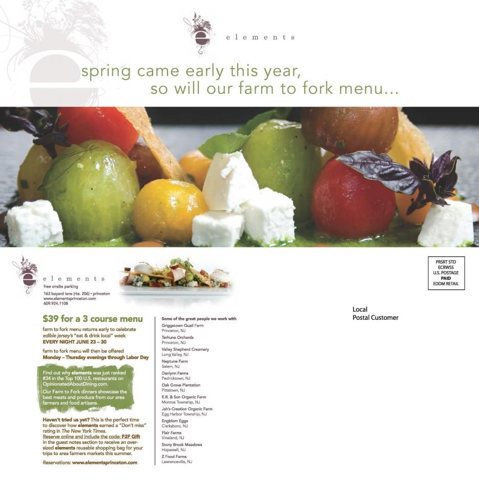 Eddm Postcards Big Hit With Local Restaurants Large Flat Size Stands Out Local Restaurant Spring Is Coming Menu