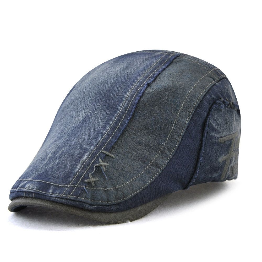 47762035 Men Cotton Solid Color Beret Cap Duck Hat Sunshade Casual Outdoors Peaked Forward  Cap Adjustable Hat Cheap - NewChic Mobile   Duds in 2019   Mens caps, ...