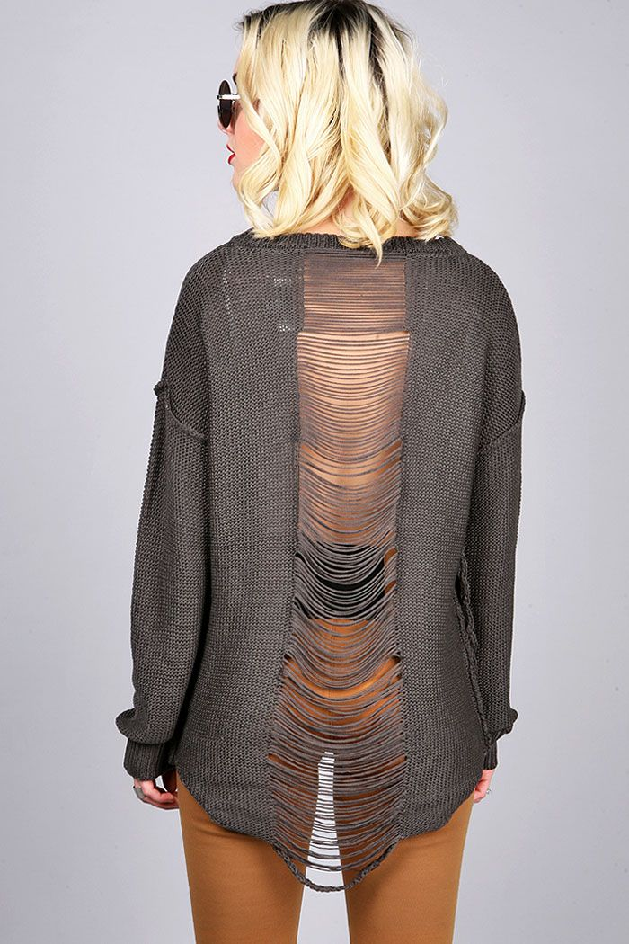 Unraveled Slash Knit | Trendy Sweaters at Pink Ice #tops #knits #knittops #pinkice