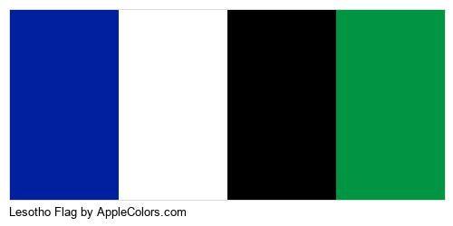 Symbol Lesotho Flag Country Flags #00209f #ffffff #000000 #009543
