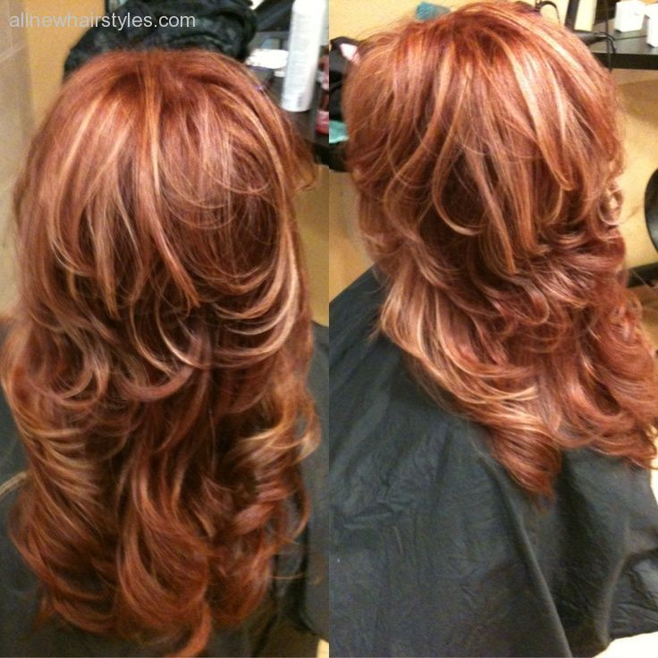 Copper Red Hair With Blonde Highlights Beauty Gallery Dvagoda All