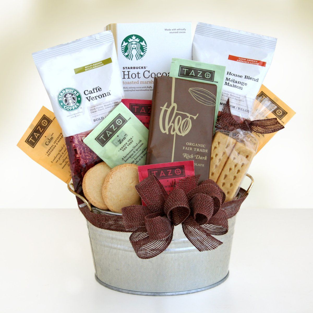 Starbucks Cocoa & Coffee Gift Basket Gourmet Coffee