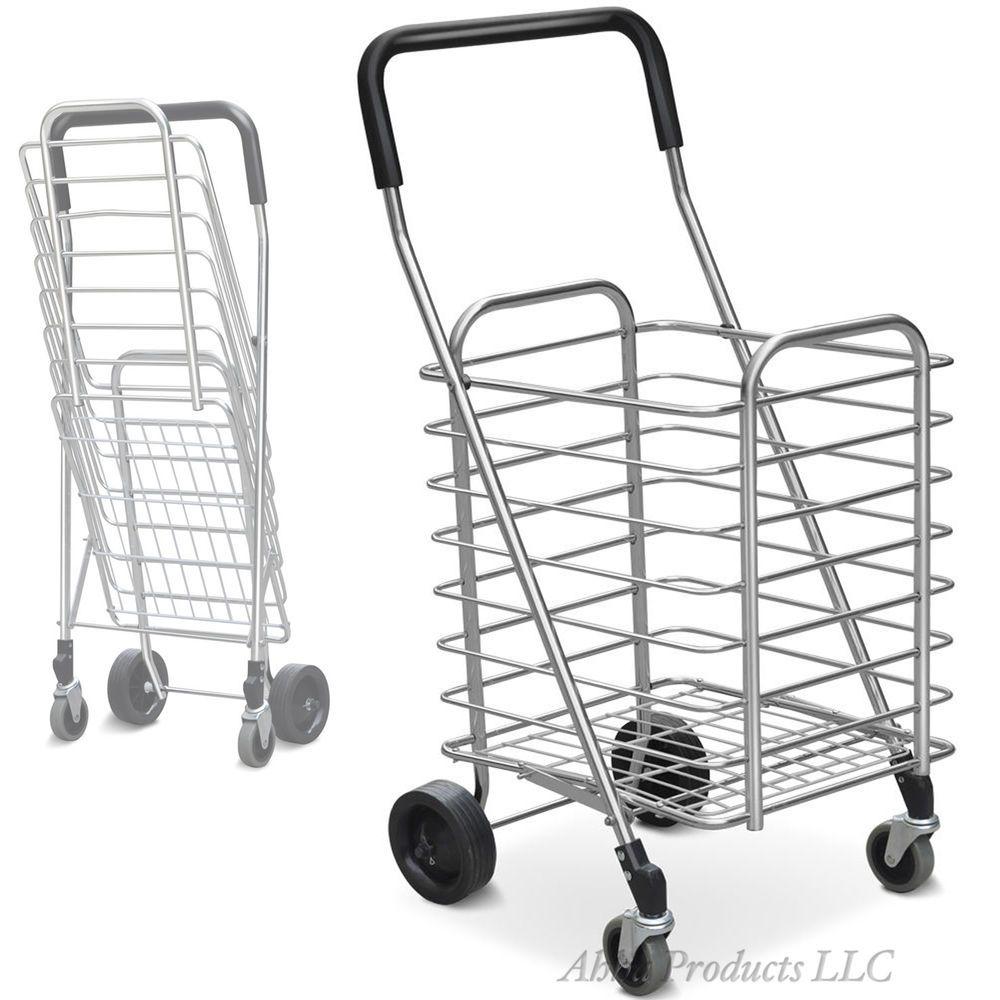 Large Foldable Lightweight Aluminum Travel Shopping Grocery 4