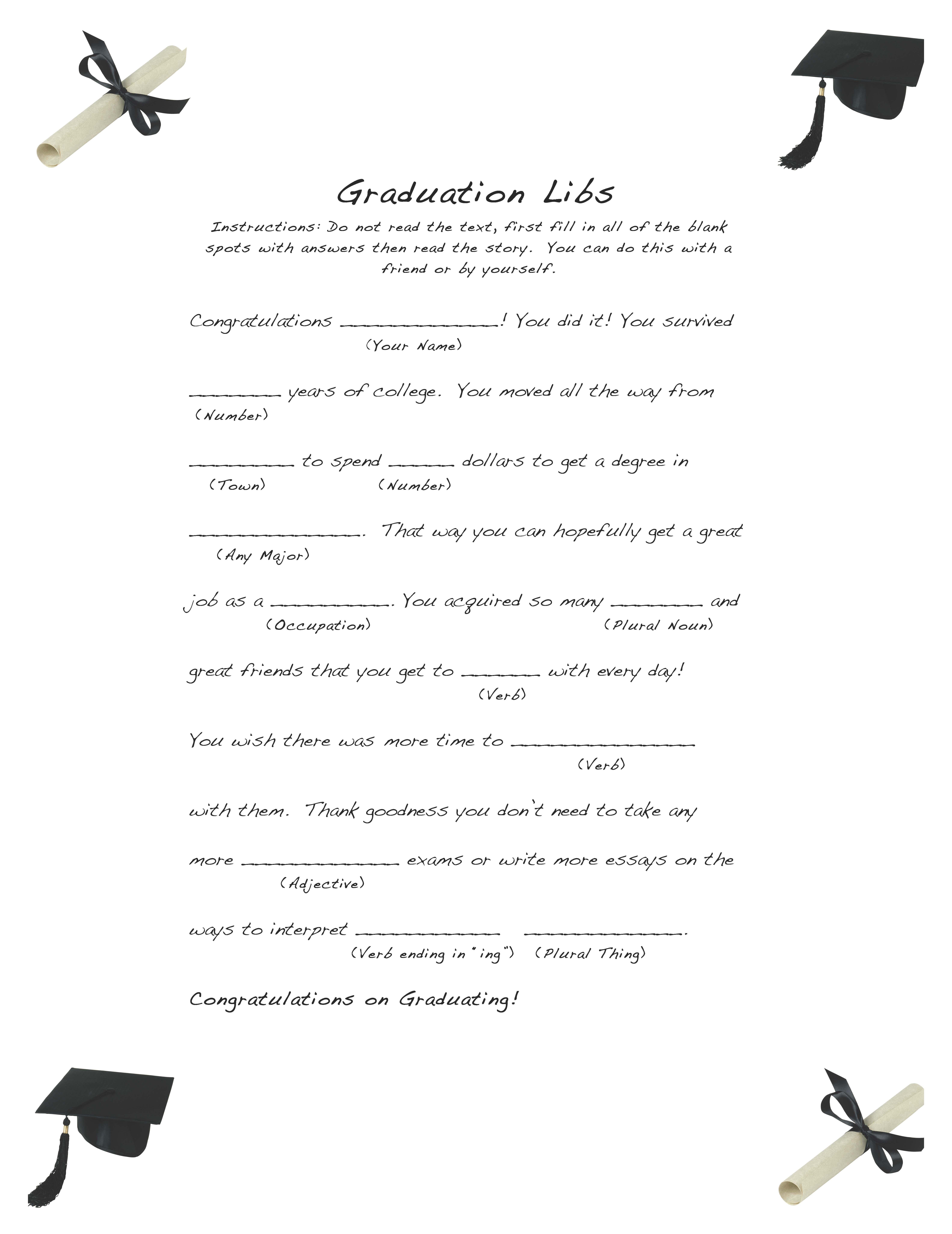 Free Graduation Libs