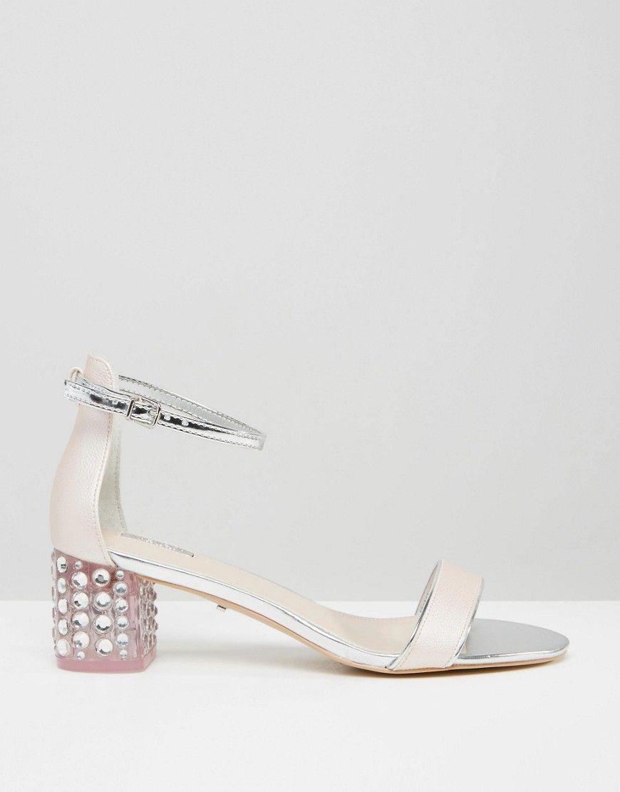 d96b8867f0c0 Image 2 of Carvela Groove Pink Embellished Block Heel Sandals ...