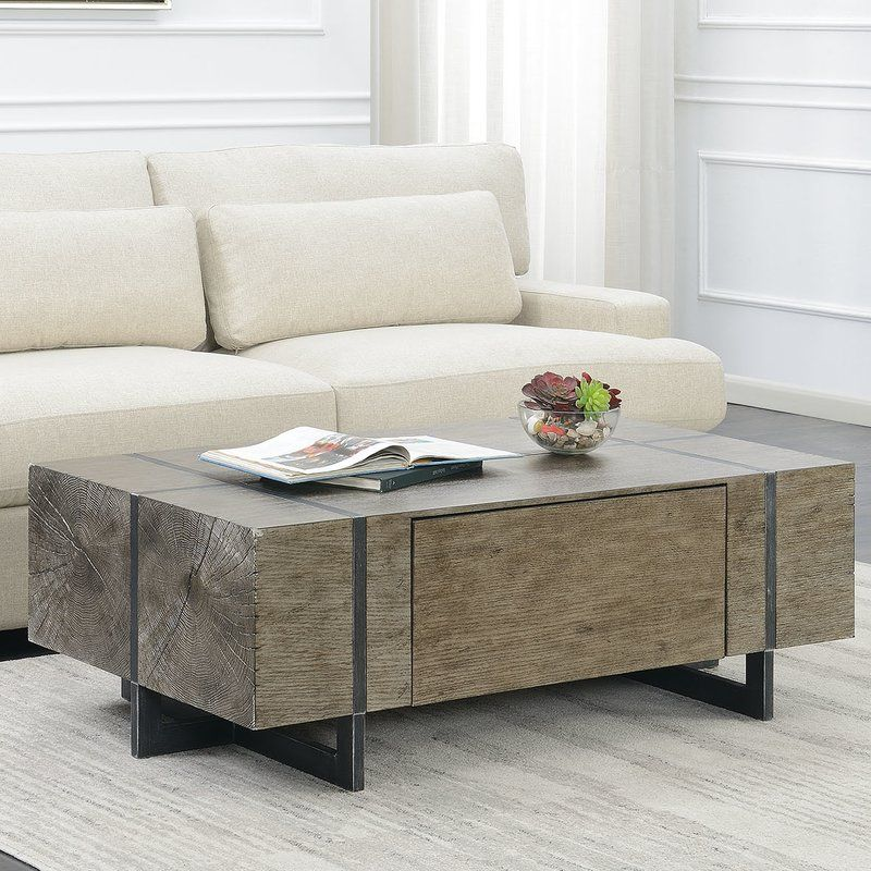 Nieves Coffee Table With Storage Coffee Table Living Room Diy
