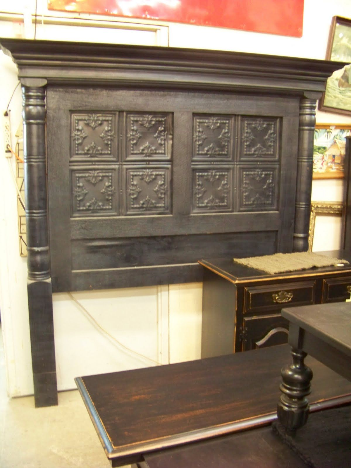 More Tin Ceiling Tile Headboards Great Idea There S No Place  # Muebles Hojalata