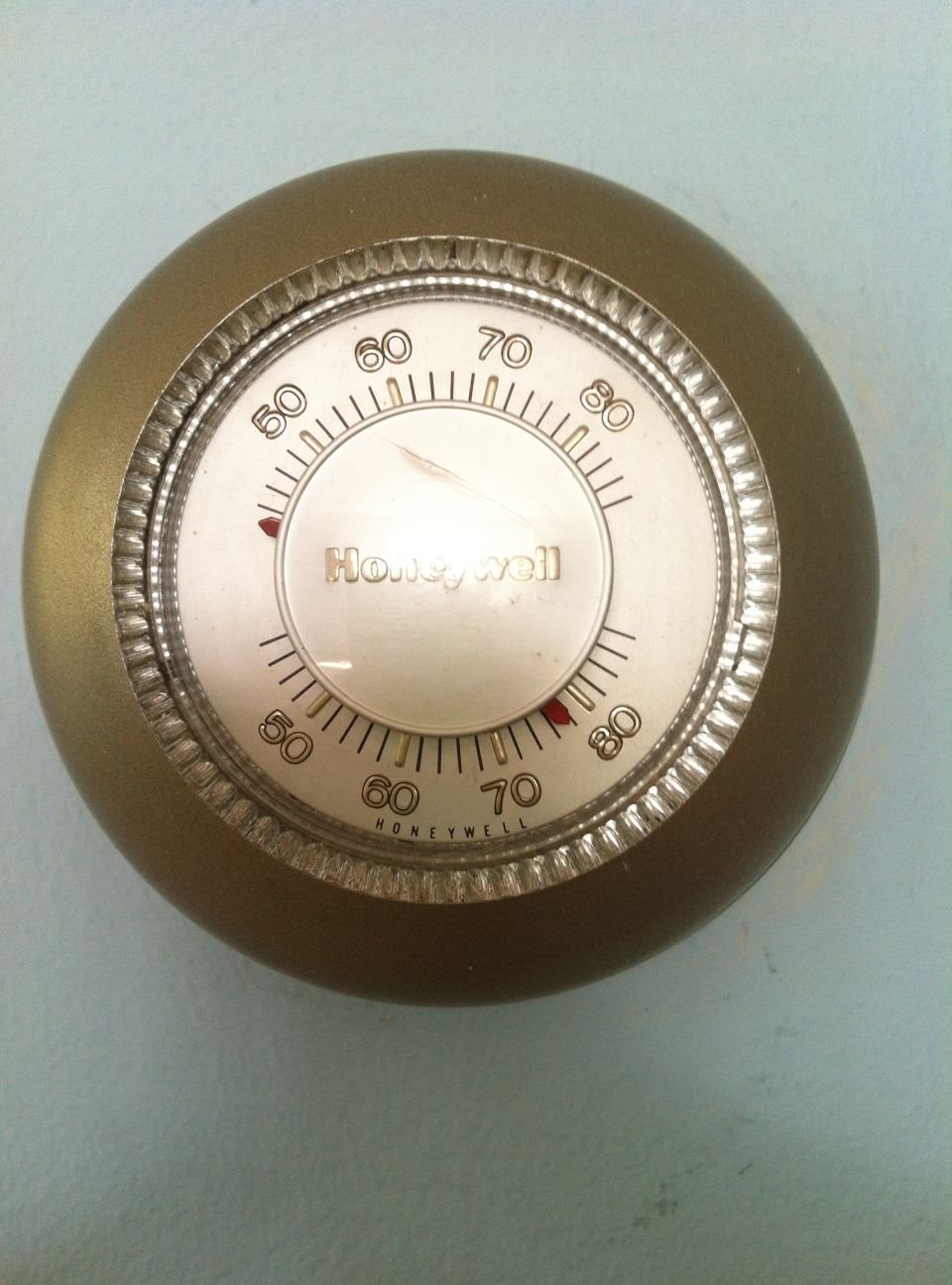 Vintage Honeywell thermostat made shiny and new. My Time
