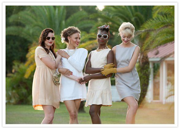 southern charm bridesmaid luncheon #1960swedding #vintage #vintagewedding #1060s #fashion #bridesmaids