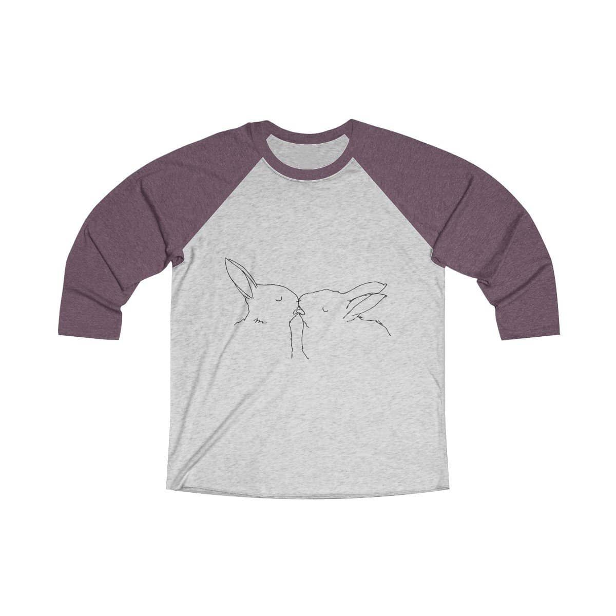 Tri-Blend 3/4 Raglan Tee by Visual artists Weisstub  This loose fit long sleeve unisex tee is perfect to score a home run on any field.  And an excellent quality print will let one do it with a style.  Quality print made in USA Free Shipping  .: Loose-fit .: 50% Polyester; 25% Soft cotton; 25% Rayon .: Light fabric .: Sewn in label .: Runs smaller than usual     XS S M L XL 2XL     Width, in 18 20 21 23 25 27   Length, in 28 29 30 31 32 33   Sleeve length, in 24 25 25 26 26 27