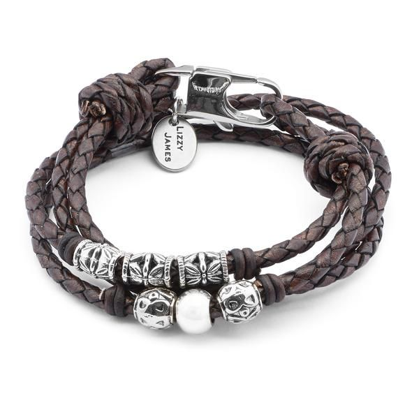The Mini Nina Braided Leather Wrap Bracelet Features Ornate Silverplate Beads Designed To Be Worn