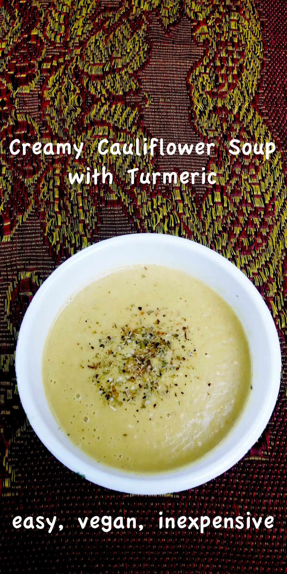 Creamy Cauliflower Soup Fine Dining On Discourse Creamy Cauliflower Soup Cauliflower Soup Creamy Cauliflower