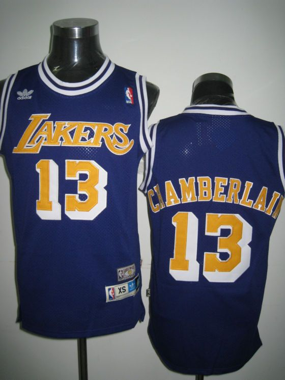 a52c178922a Adidas NBA Los Angeles Lakers 13 Wilt Chamberlain Swingman Purple Throwback  Jersey