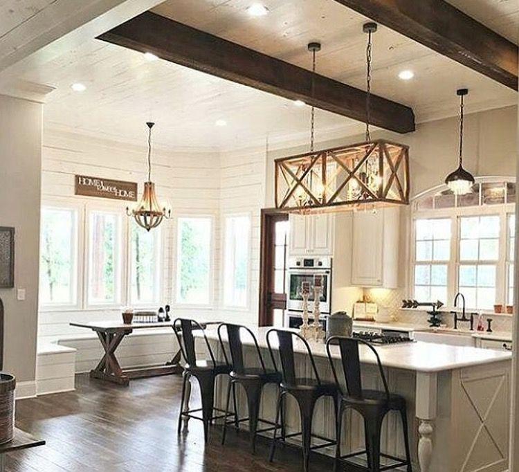 Breakfast area is a must for my future home · kitchen lightingmodern farmhousefarm