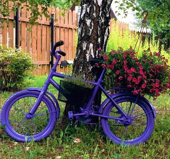 20 Diy Ideas To Recycle Bikes For Blooming Yard Decorations Yard