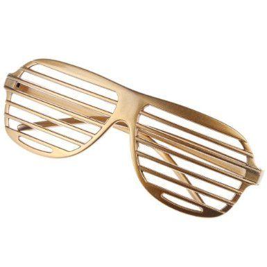 b9e7e4f9399 Amazon.com  Eozy Golden Hip Hop 80 s Shutter Shade Sunglasses Party Favors  Cosplay Halloween  Toys   Games