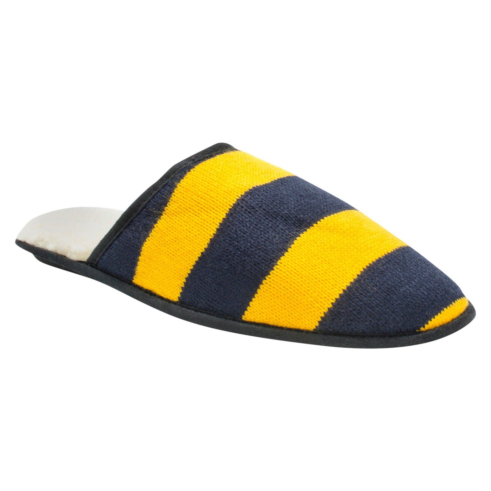 30fc2ba6a35d Men s Muk Luks Game Day Scuffs - Navy Yellow S