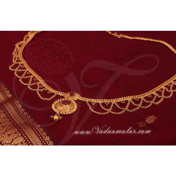 Antique Design Oddiyanam Kamarpatta Indian Waist Chain Party