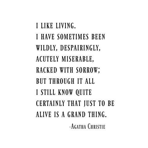 Agatha Christie quote art print wall art home  gift  motivation inspiration