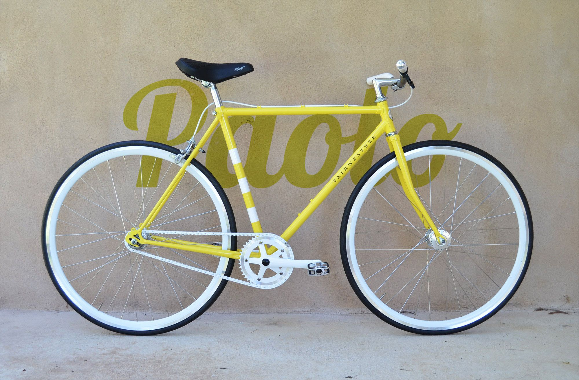 Yellow Black And White Bike From Mrs Fairweather S Bicycle Emporium The Perfect Mode Of Transport For Arthur And Syder White Bike Bicycle Mode Of Transport