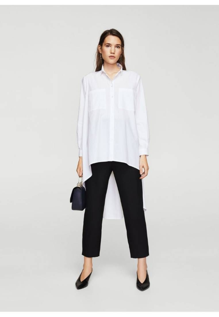Pleat Womens Shirt White Style Pinterest Fabric Material