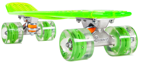 Skateboard  skaters  skateboarding  skateboard Glow n Zombie Green Deck  With Biohazard Flare LED Wheels 4a9b20e618c