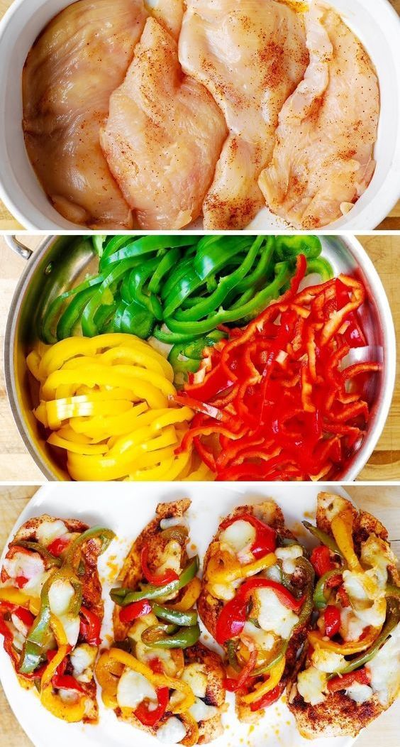 Cheesy Fajita Chicken Bake with Bell Peppers