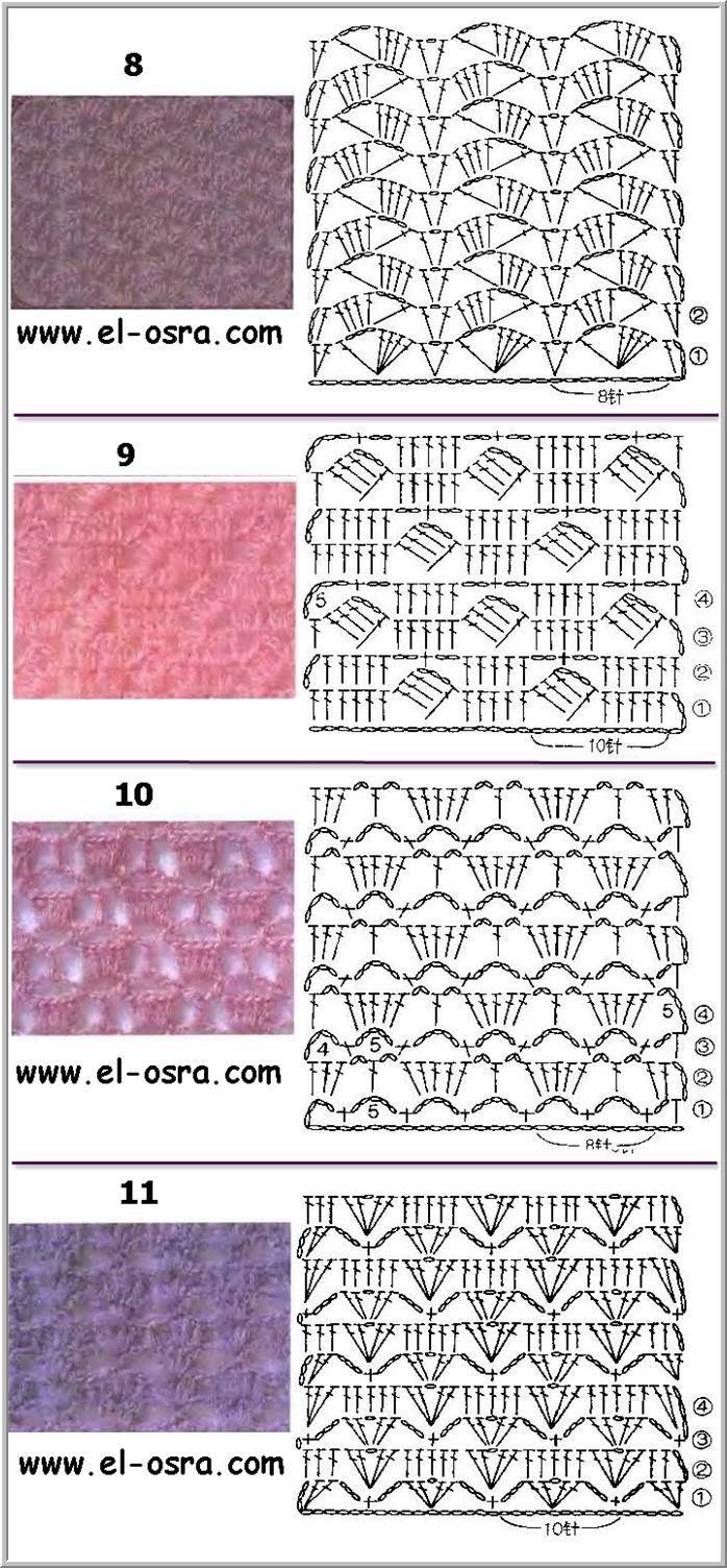 موسوعه غرز كروشيه بالباترون صورغرز كروشية بالبترون Crochet Stitches For Blankets Crochet Stitches Guide Crochet Knit Stitches