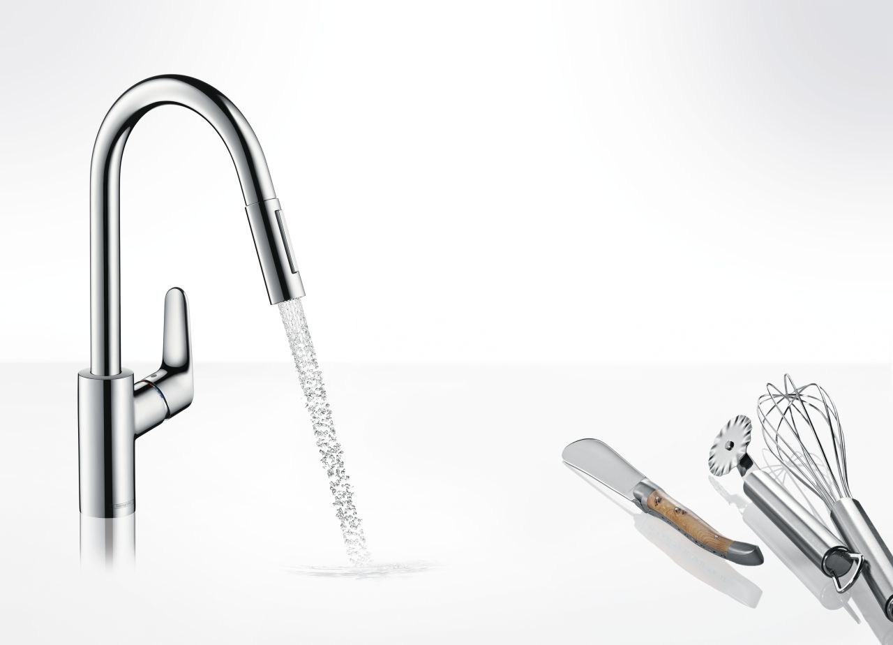 Single Lever Kitchen Mixer With Two Jet Types Hansgrohe