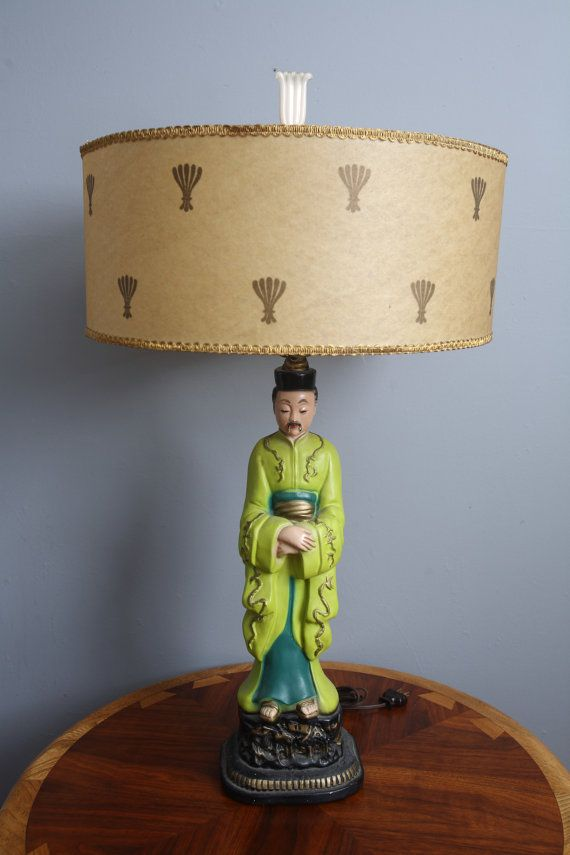 Mid Century Modern Ceramic Asian Lamp By TheTweedSuitcase On Etsy