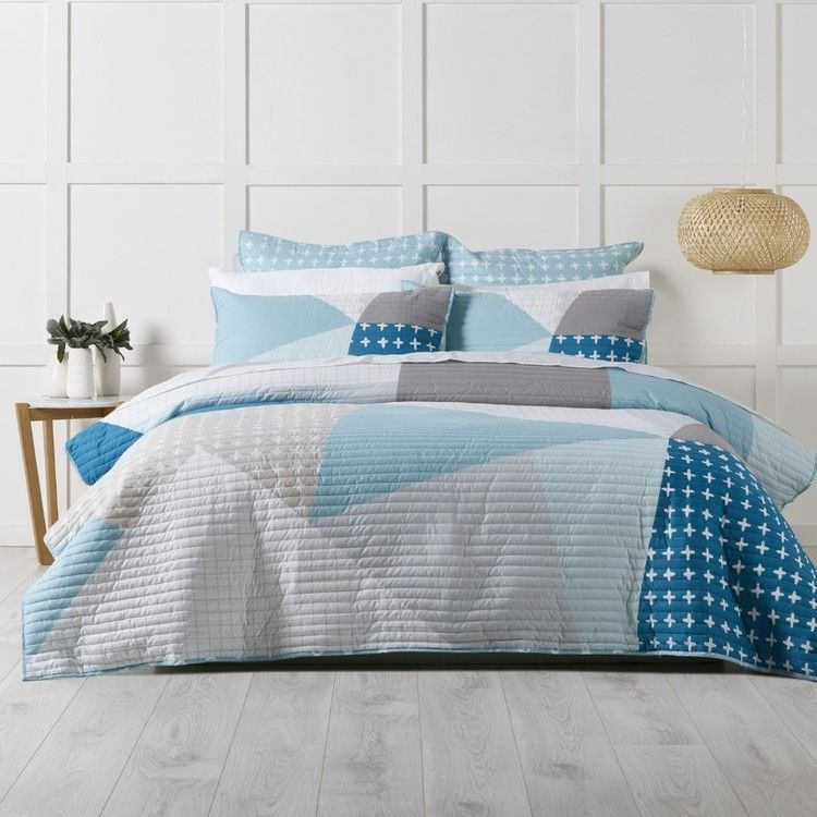 Koo Olsen Quilted Quilt Cover Set Single Size Bed Quilt Cover Quilt Cover Sets