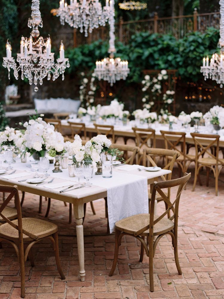 Rococo Crystal Chandeliers Wedding Table Centerpieces