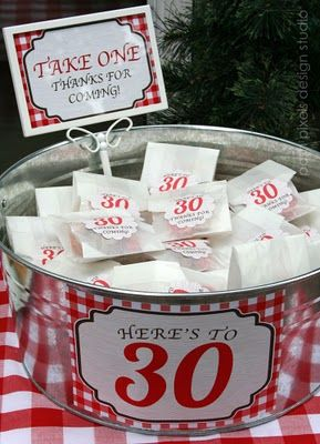 Ideas For My 30 30th Birthday Favors Adult Party 40th Parties