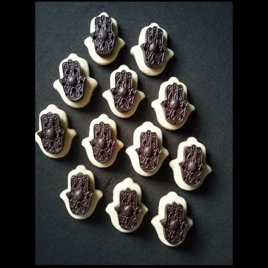 Sablés Khamssa Au Chocolat: Biscuits Main De Fatma & Arabesques