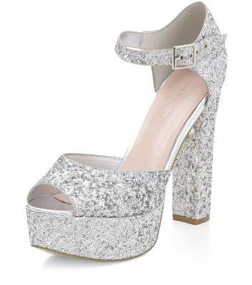 Gold Suedette Diamante Floral Embellished Sandals | Block heels ...