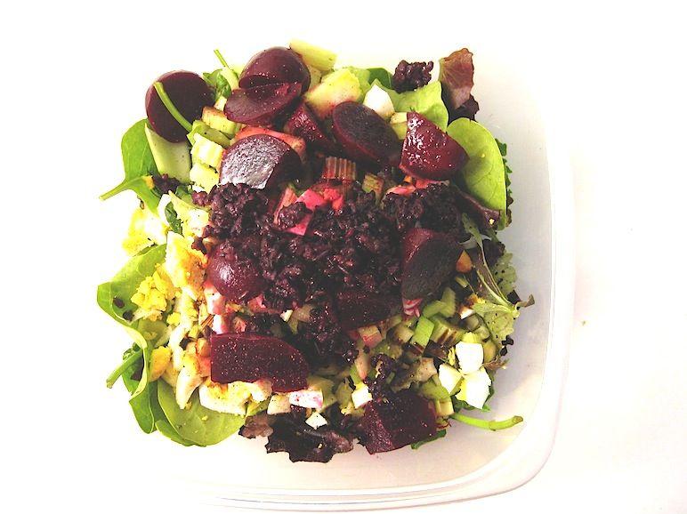 Farmers market salad w pickled beets